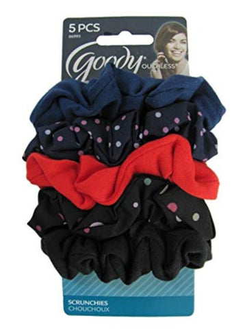Goody Scrunchies Hair Bands Beautiful Style Fabric Multi-Color 5pcs