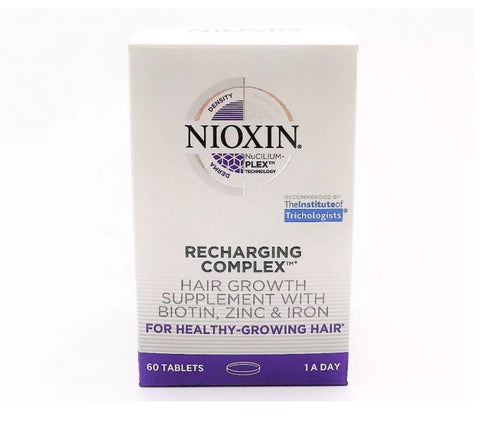 Nioxin Recharging Complex Hair Growth Supplement With Biotin 30 Tablets