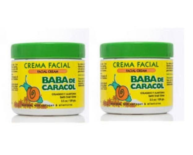 Baba De Caracol Earth Snail Slime Facial Cream Crema Facial 2 Packs