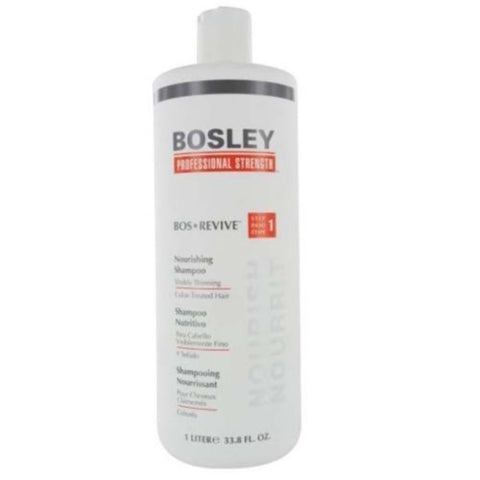 Bosley Bos Revive Shampoo 1 Liter / 33.8 fl. oz for Color-Treated Hair
