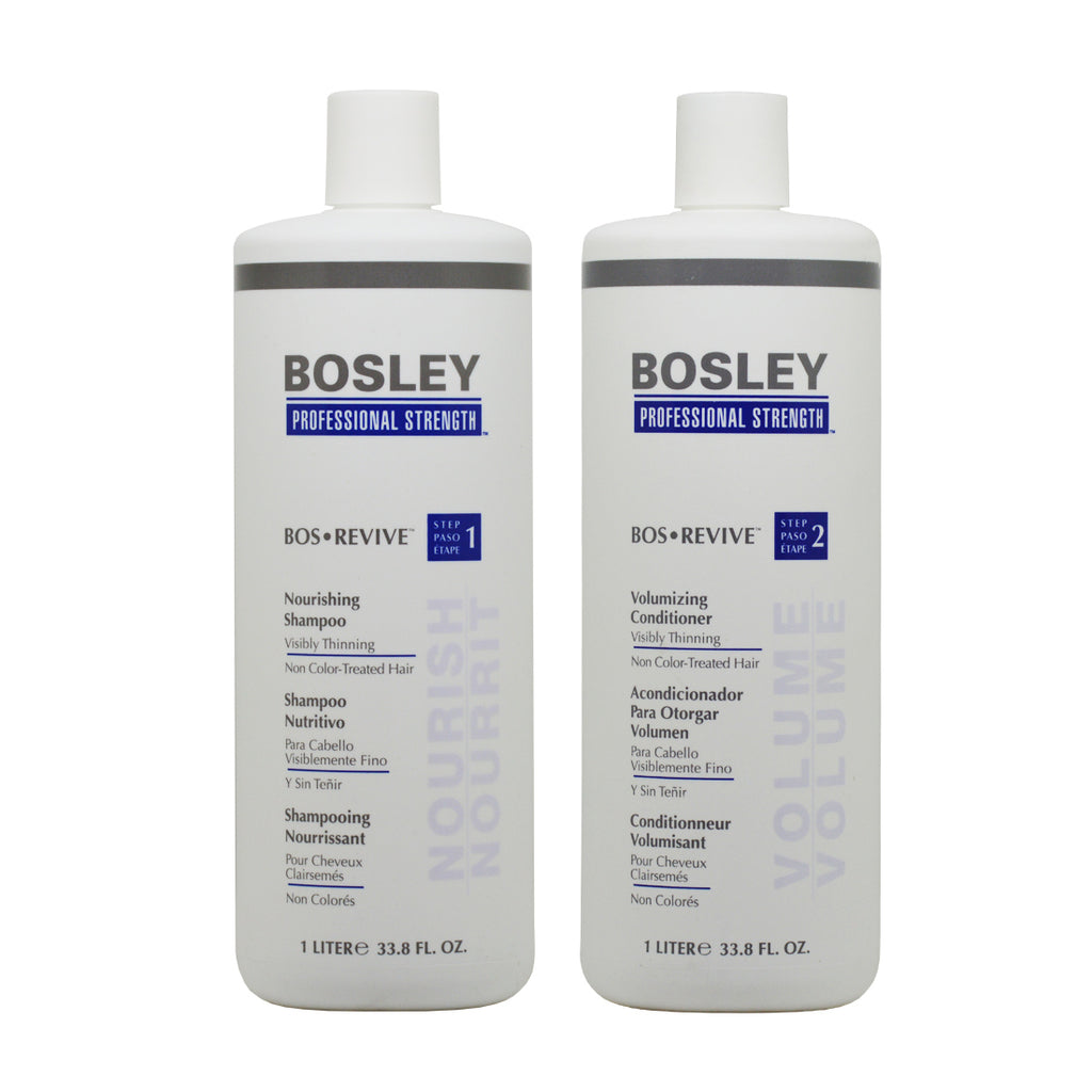 Bosley Bos Revive Shampoo & Conditioner 1 Liter for Non Color-Treated Hair