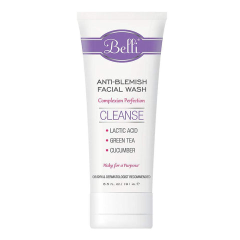 Belli Anti-Blemish Facial Wash – Cleanse Acne-Prone Skin – OB/GYN and Dermatologist Recommended – 6.5 oz. (6.5oz)