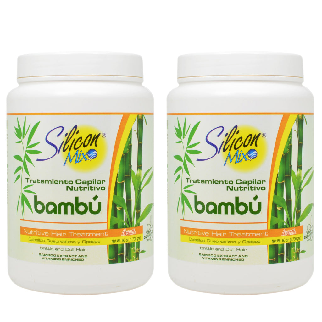 Silicon Mix Bambu Bamboo Nutritive Hair Treatment Pack of 2 60 Oz.