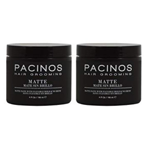 "Pacinos Hair Grooming Matte Paste 4 fl oz / 118ml ""Pack of 2"""