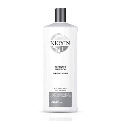 Nioxin System 2 Cleanser Shampoo 33.8oz 1 Liter New Bottle