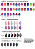 AIMEILI Gel Nail Polish No Wipe Top and Base Coat Set Soak Off UV LED Gel Nail Lacquer - 2 x 10ml