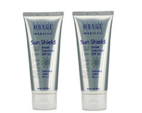 Obagi Medical Sun Shield Spf 50 Matte Sunscreen Lotion Broad Spectrum 2x 28g