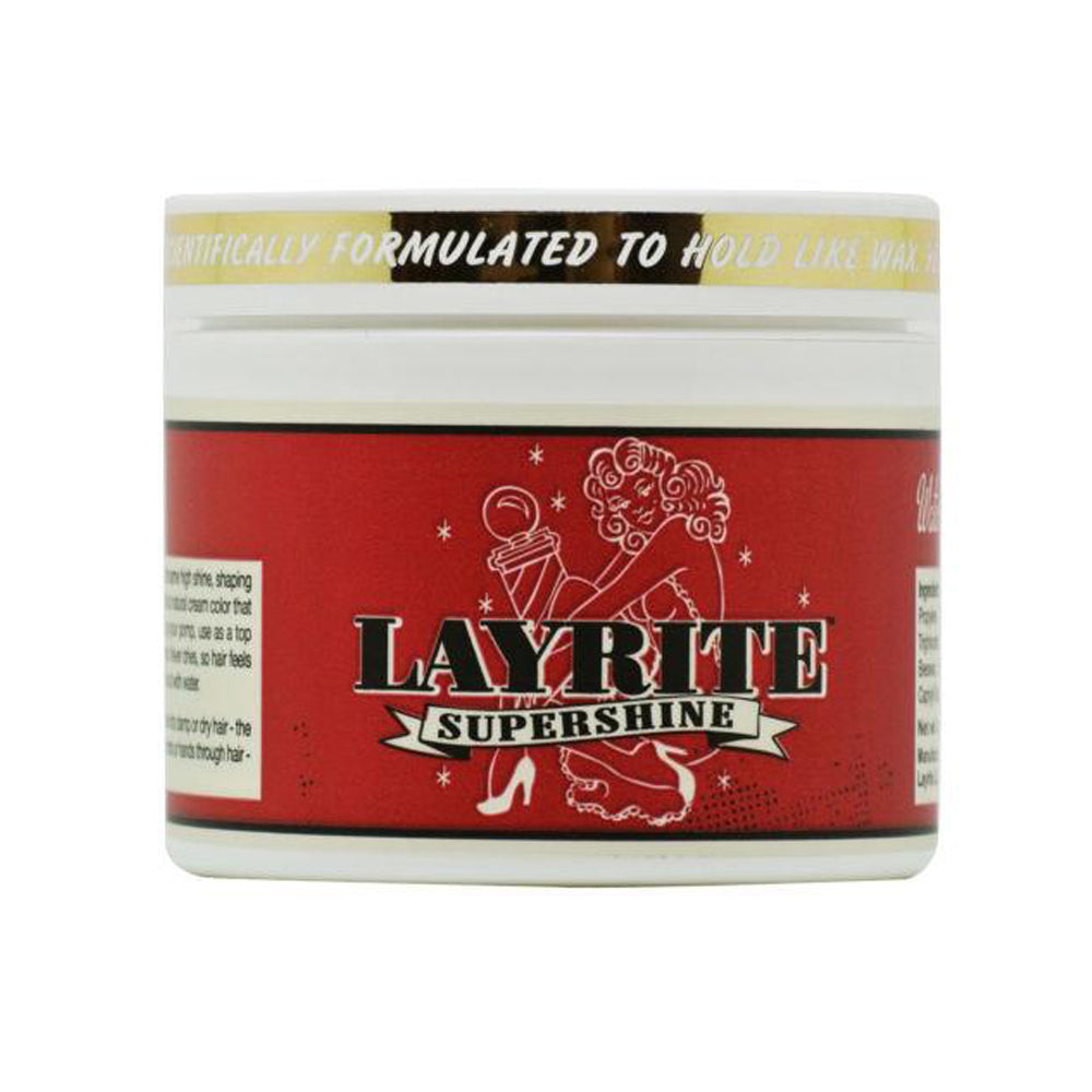 Layrite Supershine Hair Cream All Hair Types Medium Hold 4 oz / 113 g