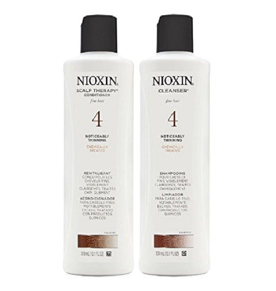 Nioxin System 4 Cleanser 10.1 Ounce and Scalp Therapy 10.1 Ounce Duo Set