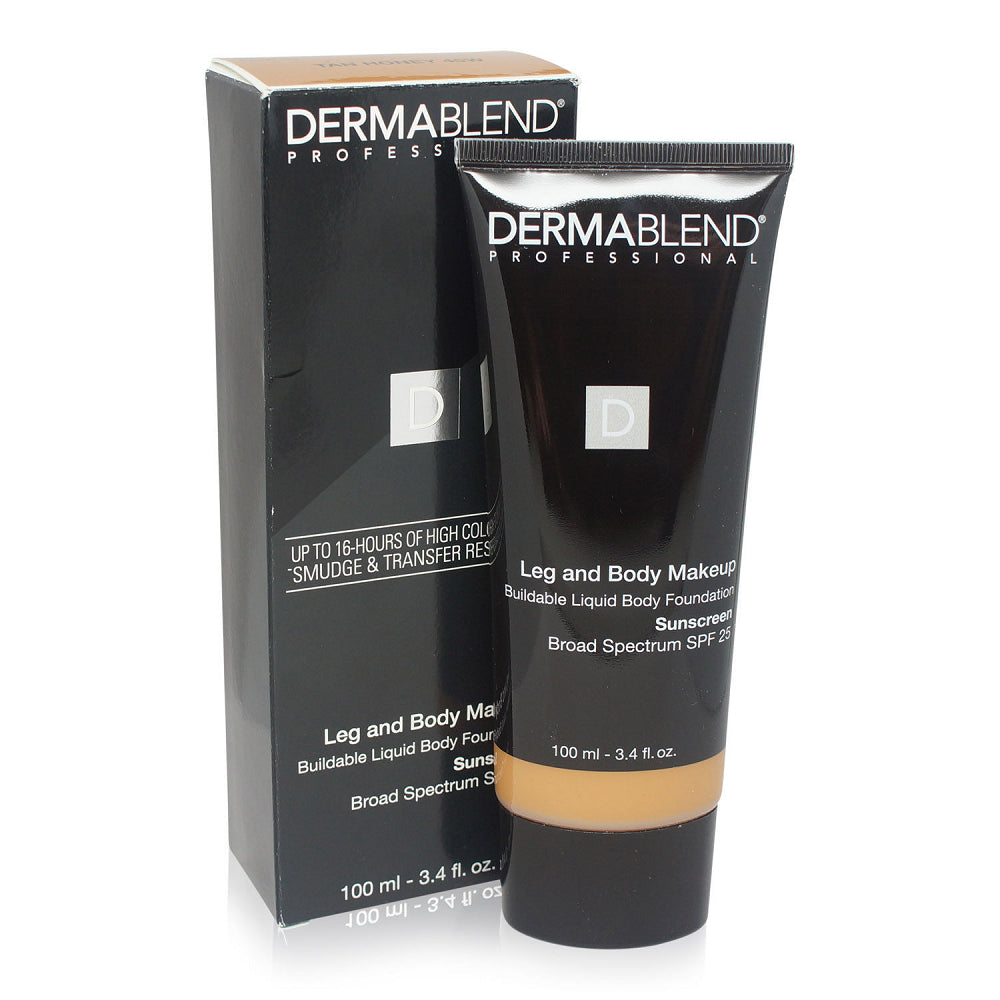Dermablend Leg and Body Cover Make-Up  Tan Honey SPF 25 3.4 Oz