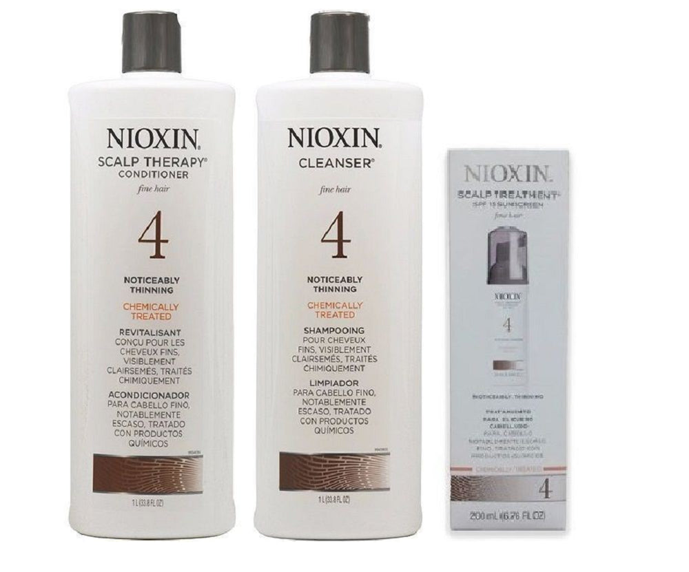 NIOXIN System 4 Cleanser & Scalp Therapy Duo Set 33.8oz  Treatment 6.8oz