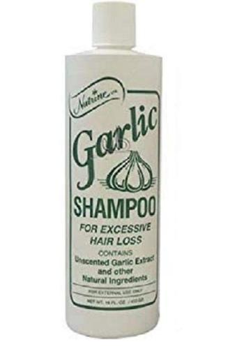 Nutrine Garlic Shampoo Unscented for Excessive Hair Loss 16 Fl. Oz