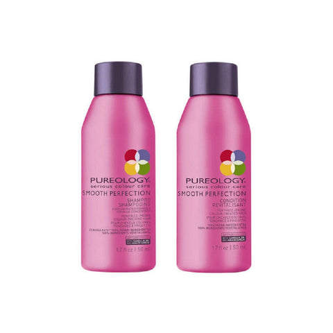 Pureology Smooth Perfection Shampoo & Conditioner 1.7 oz Travel Size DUO