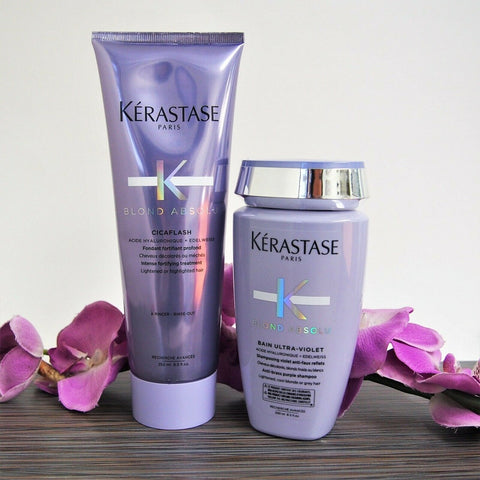 KERASTASE BLOND ABSOLU BAIN ULTRA VIOLET & FONDANT CICAFLASH 250 ml / 8.5 oz