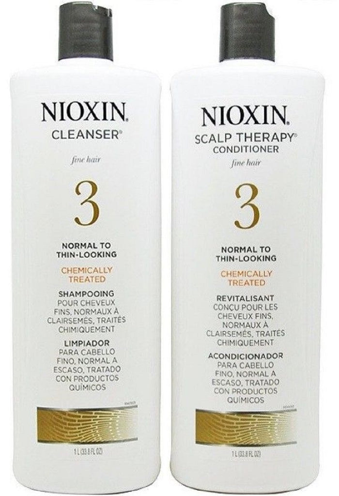 Nioxin System 3 Cleanser And  Scalp Therapy Liter Duo Set