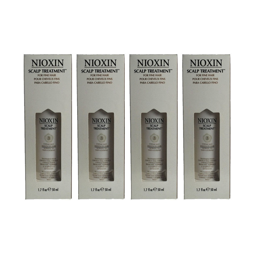 Nioxin System 3 Scalp Activating Treatment 1.7 oz / 50 ml Lot Of 4  (6.8 oz total)