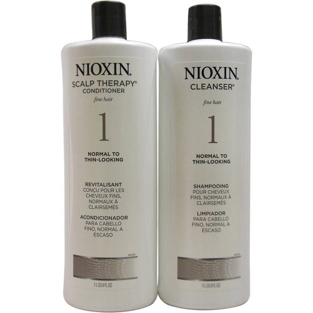 Nioxin System 1 Cleanser And Scalp Therapy 33.8 oz DUO