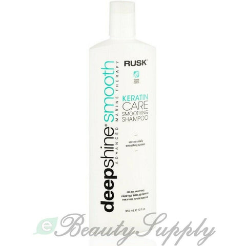 Rusk Deep Shine Smooth Keratin Care Smoothing Shampoo 12 oz