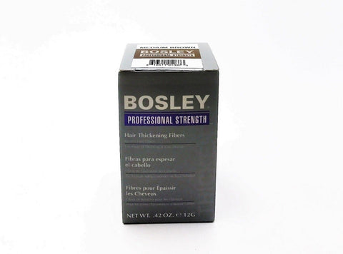 BOSLEY Hair Thickening Fibers  Medium Brown  .42 Oz / 12 G