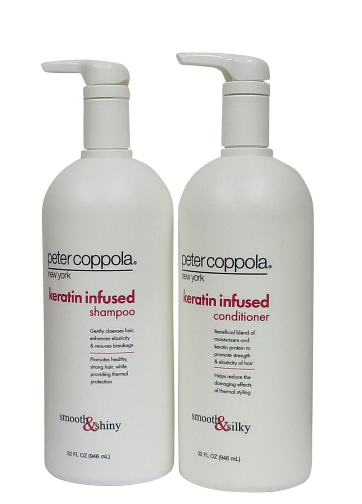 Peter Coppola Keratin Infused Shampoo And Conditioner Smooth 32 Oz Duo