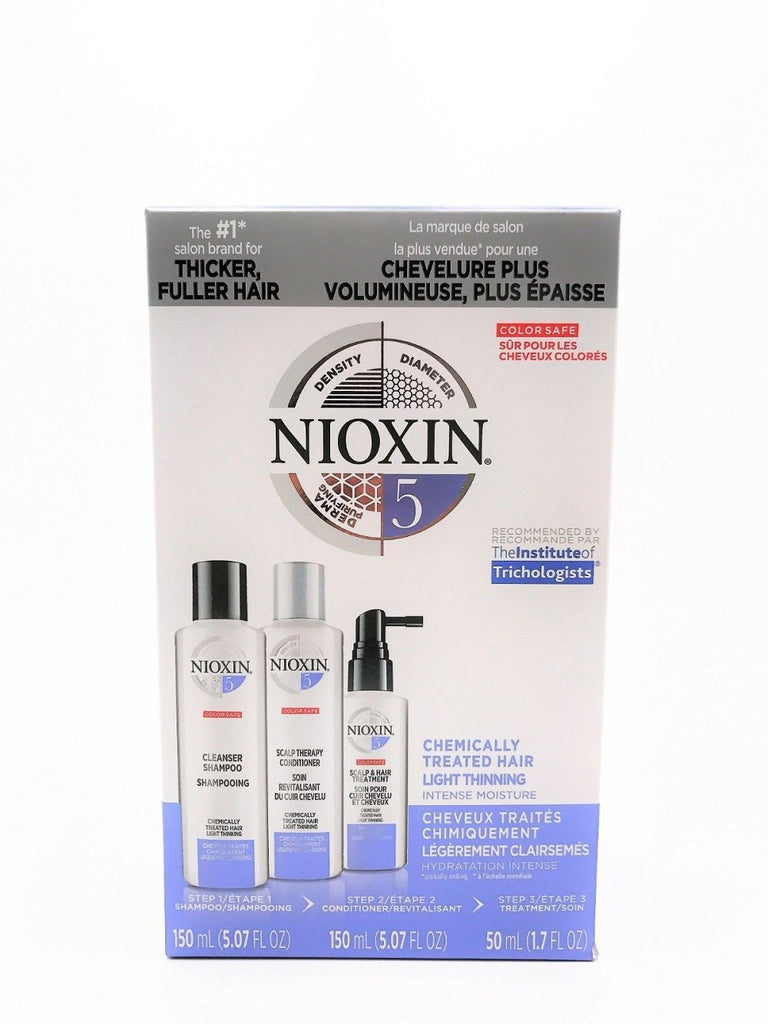 NIOXIN System 5 Trial Kit Chemically Treated Hair/Light Thinning