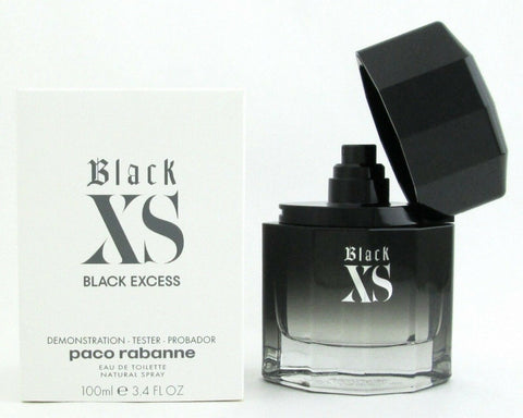 Black XS Black Excess Cologne By Paco Rabanne EDT Spray 3.4 oz for Men Tester