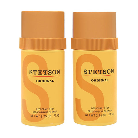 Stetson by Coty For Men 2 x 2.75 Oz Deodorant Stick Brand New