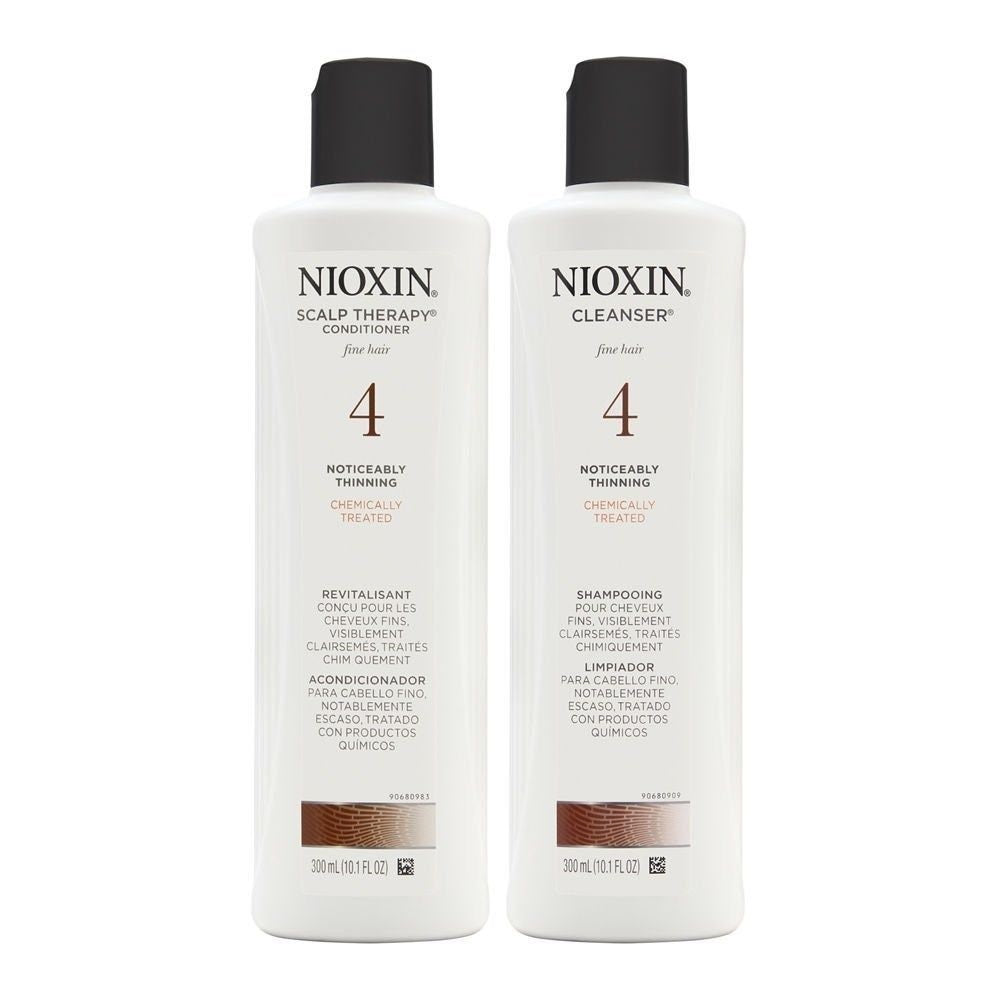 Nioxin System 4 Cleanser And Scalp Tehrapy 10.1 Oz Duo