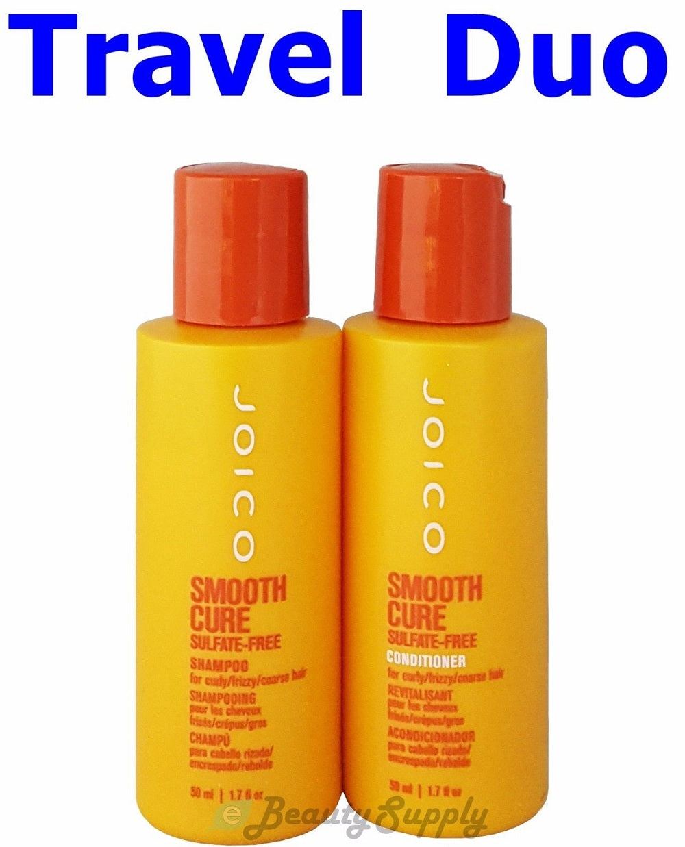 Joico Smooth Cure Sulfate Free Shampoo Conditioner Travel Duo Each 1 7 oz