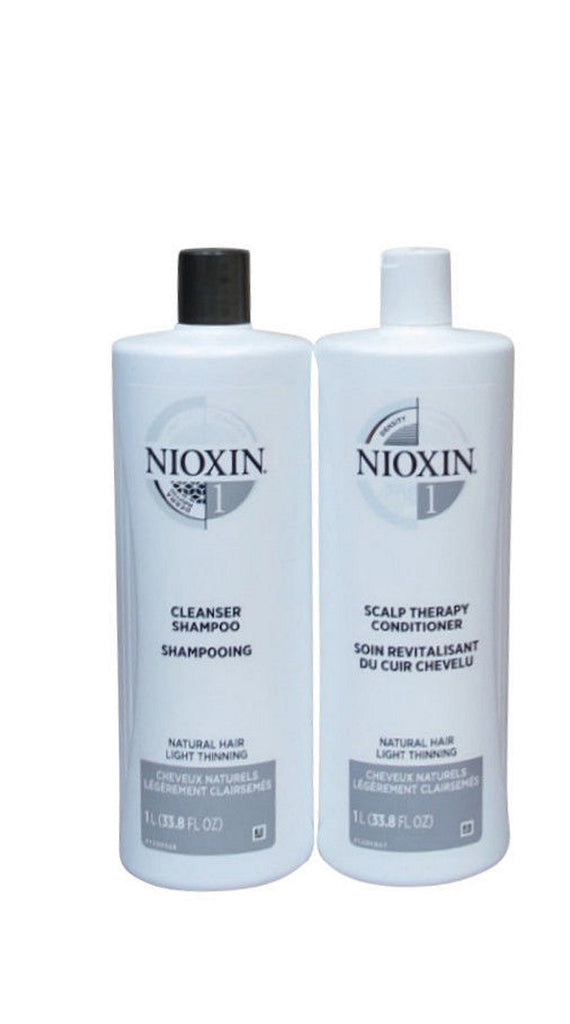Nioxin System 1 Cleanser And Scalp Therapy 33.8 Oz DUO NP