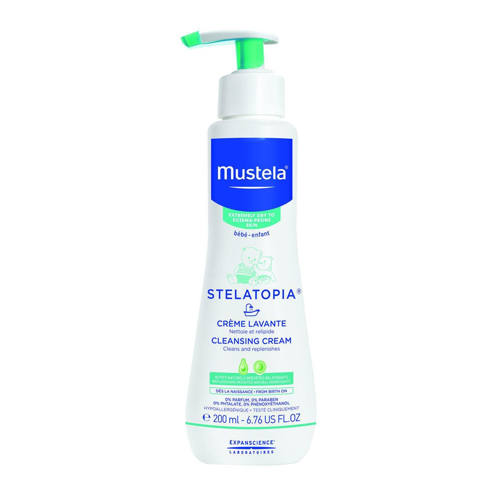 Mustela Stelatopia Cleansing Cream For Extremely Dry Skin 6.76 Oz Brand New