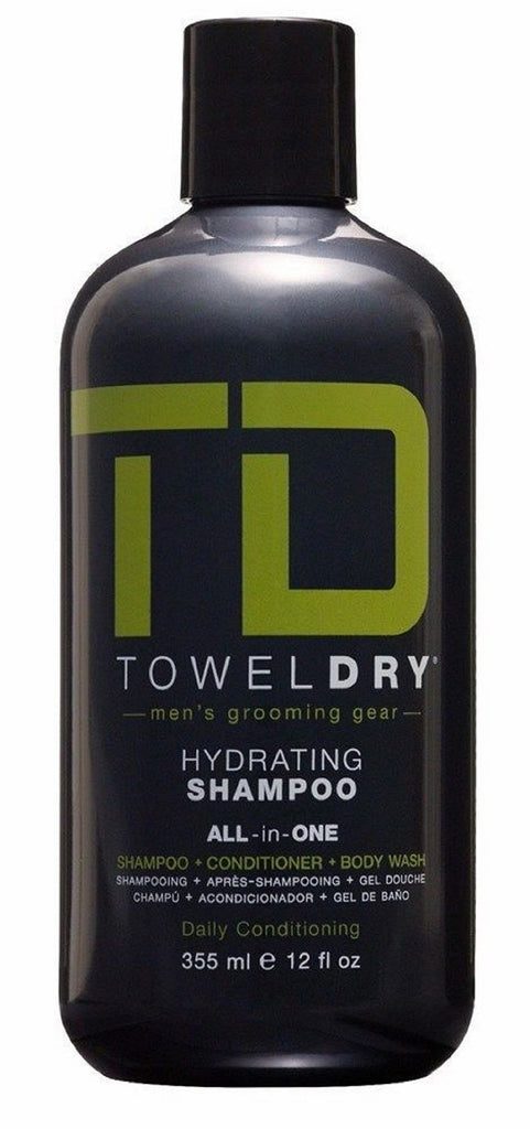 Towel Dry Hydrating Shampoo For Men 12 Oz