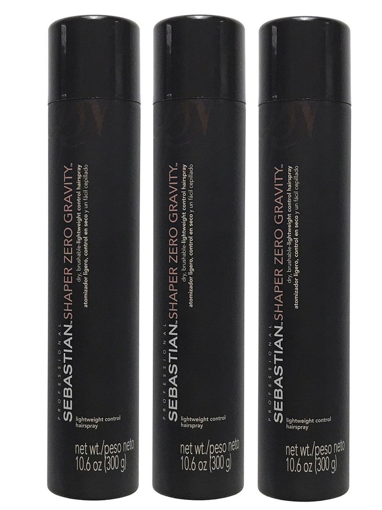 Sebastian Shaper Zero Gravity Lightweight Control Hairspray 10.6 oz Pack of 3
