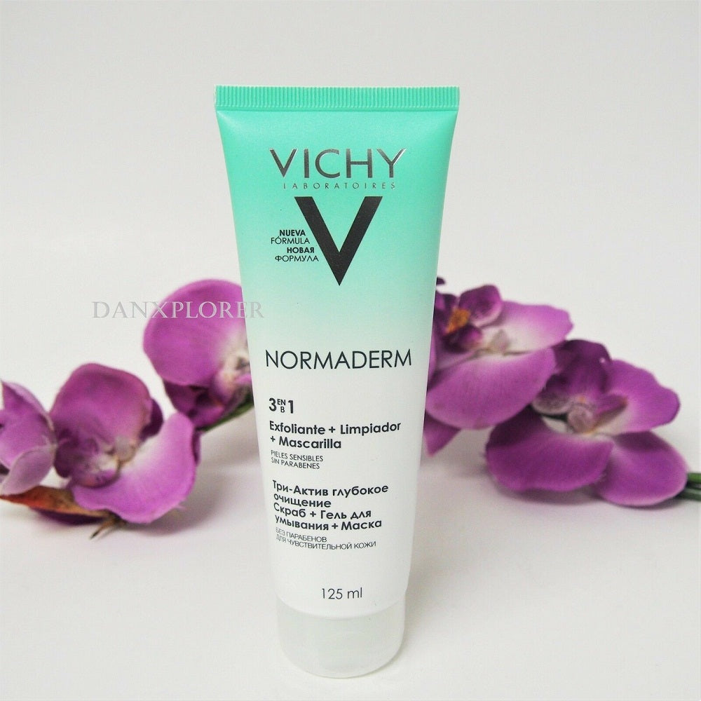 VICHY NORMADERM 3 IN 1 SCRUB EXFOLIANT MASK FOR SENSITIVE SKIN 125 ml