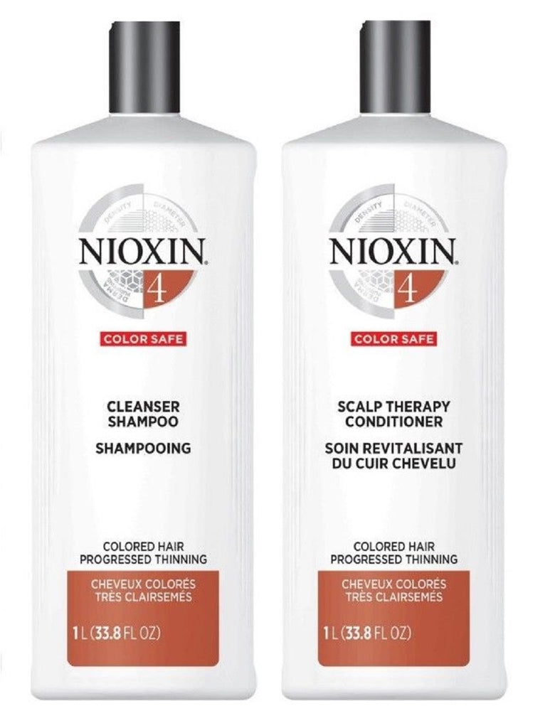Nioxin System 4 Cleanser And  Scalp Therapy Duo Set 33.8 Oz/ 1L  NEW