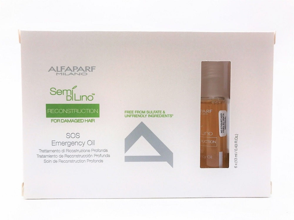 Alfaparf Semi Di Lino SOS Emergency Oil  6 Count