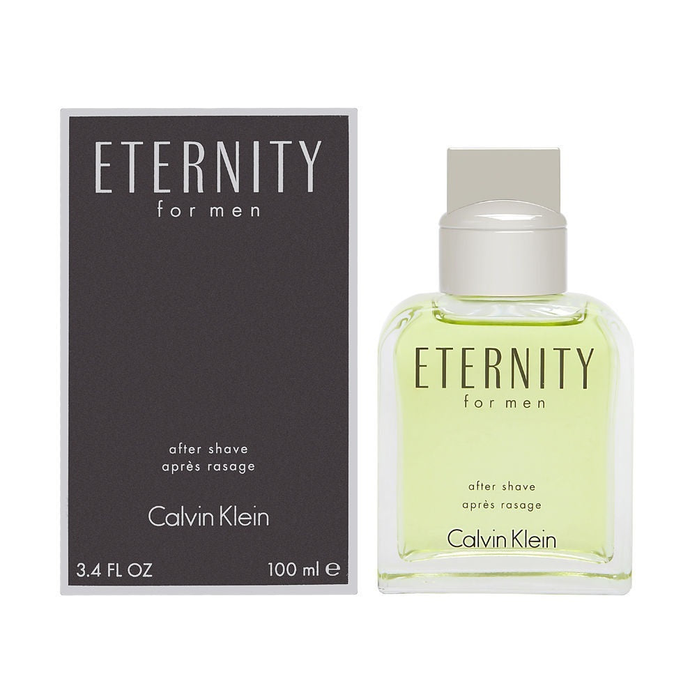 Eternity by Calvin Klein For Men 3.4 Oz After Shave Pour Brand New