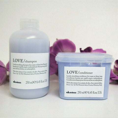 DAVINES LOVE SMOOTHING SHAMPOO & CONDITIONER 8.45oz / 250ml each