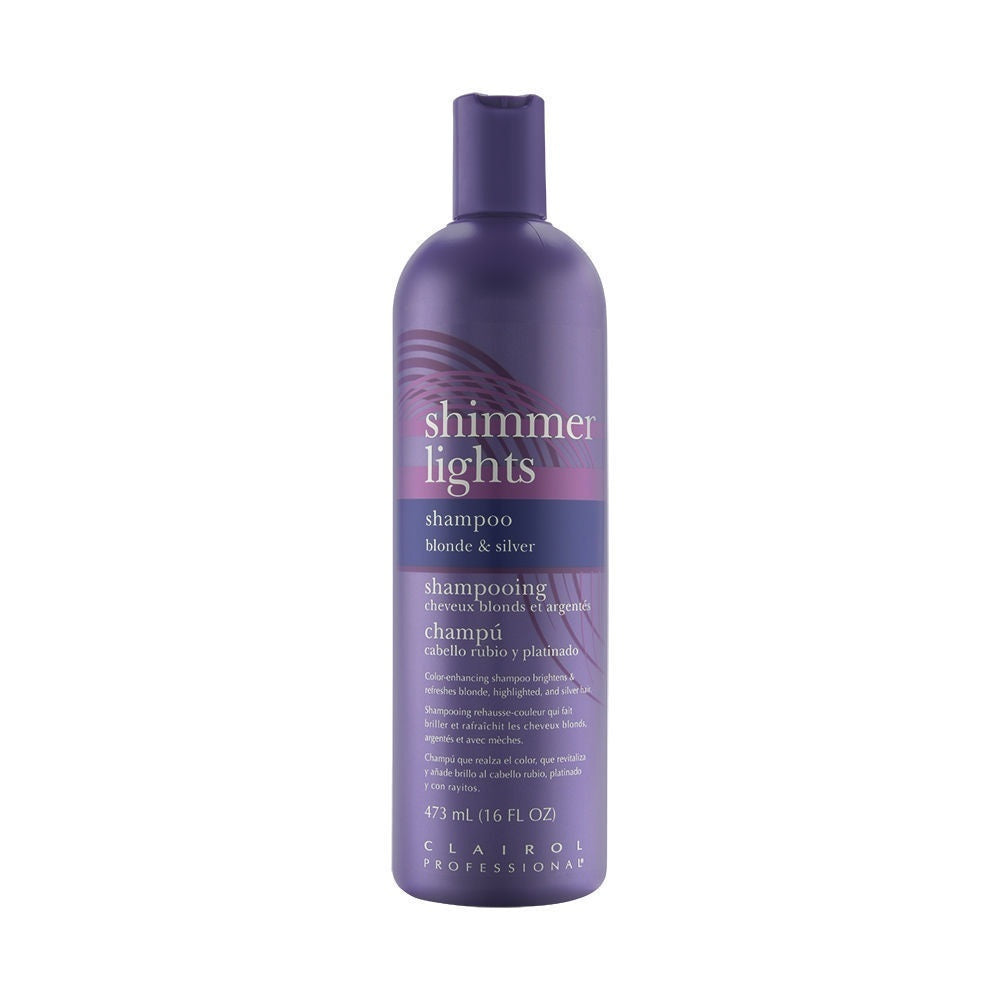 Clairol Professional Shimmer Lights Blonde Silver Shampoo 437ml / 16oz