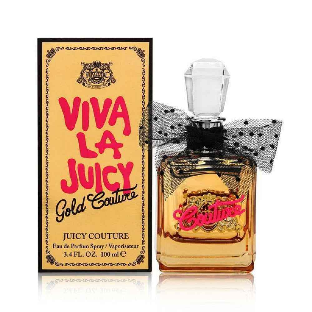 Viva La Juicy Gold Couture by Juicy Couture For Women 3.4 Oz EDP Spray Brand New