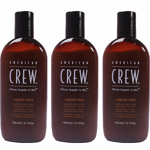 American Crew Liquid Wax Medium Hold And Shine 5.1 oz PACK OF 3