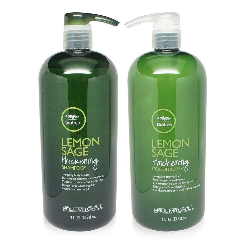 Paul Mitchell Tea Tree Lemon Sage Thickening Shampoo And Conditioner Duo 33.8 Oz