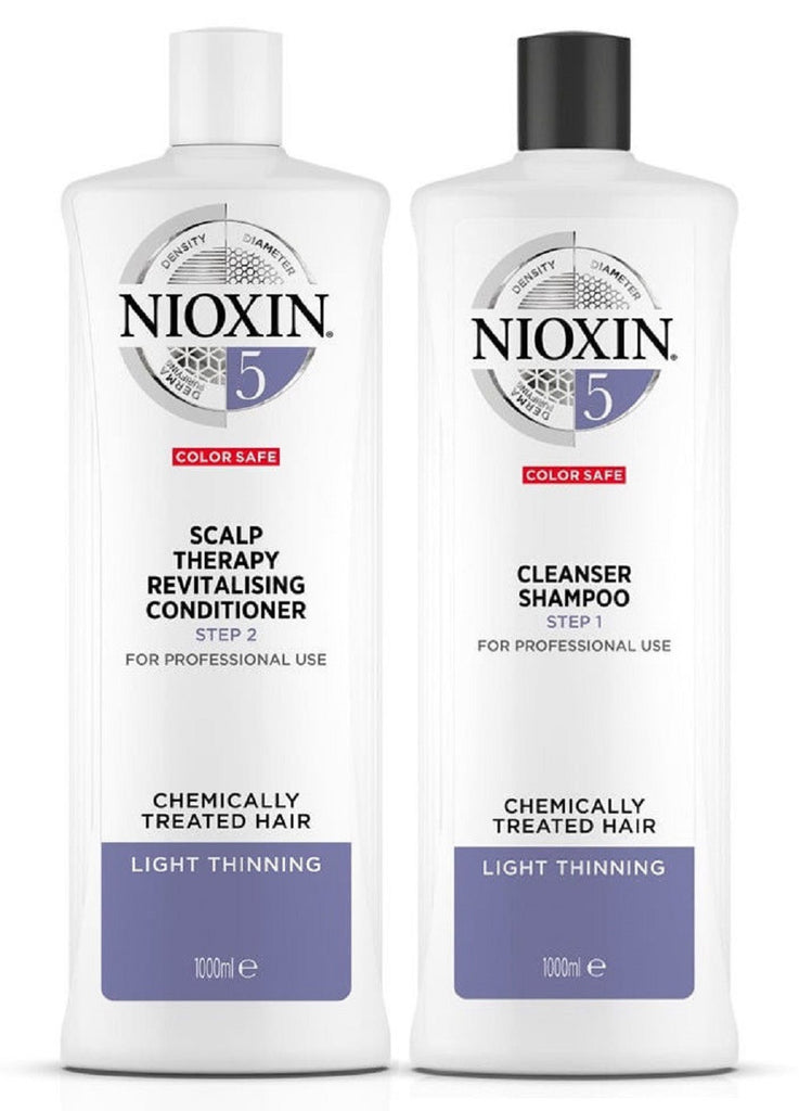 Nioxin System 5 Cleanser And Scalp Therapy Duo 33.8 Oz/ 1L  NEW