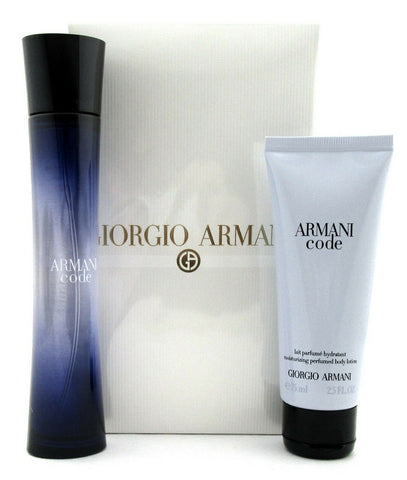Armani Code by Giorgio Armani Set for Women: 2.5 oz EDP Spray + 2.5 oz B/Lot