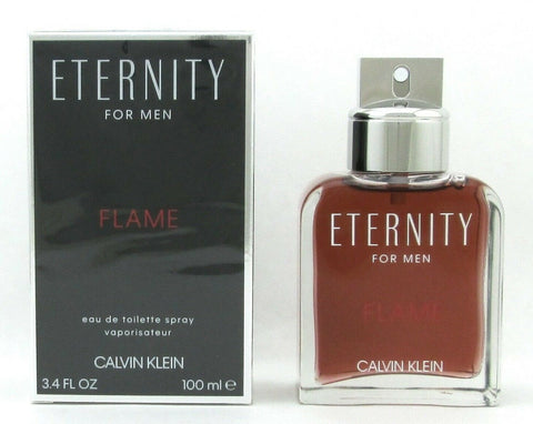 Eternity Flame Cologne by Calvin Klein 3.4 oz Eau De Toilette Spray for Men