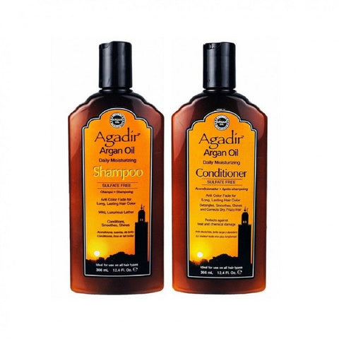 Agadir Daily Moisturizing Shampoo And Conditioner 12.4oz  Duo  Scuffed