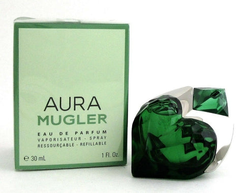 Aura Mugler by Thierry Mugler 1.0 oz EDP Spray Refillable for Women