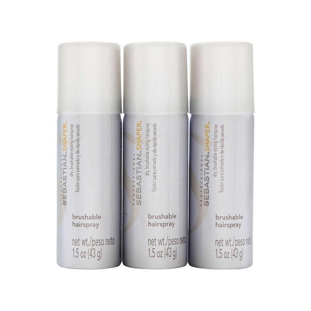 Sebastian Shaper Dry, Brushable Styling Hairspray With Control 3 Pack 1.5 Oz