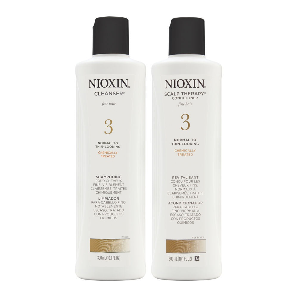 Nioxin System 3 Duo Cleanser + Scalp Therapy Normal / Thin Chemically Treated Hair