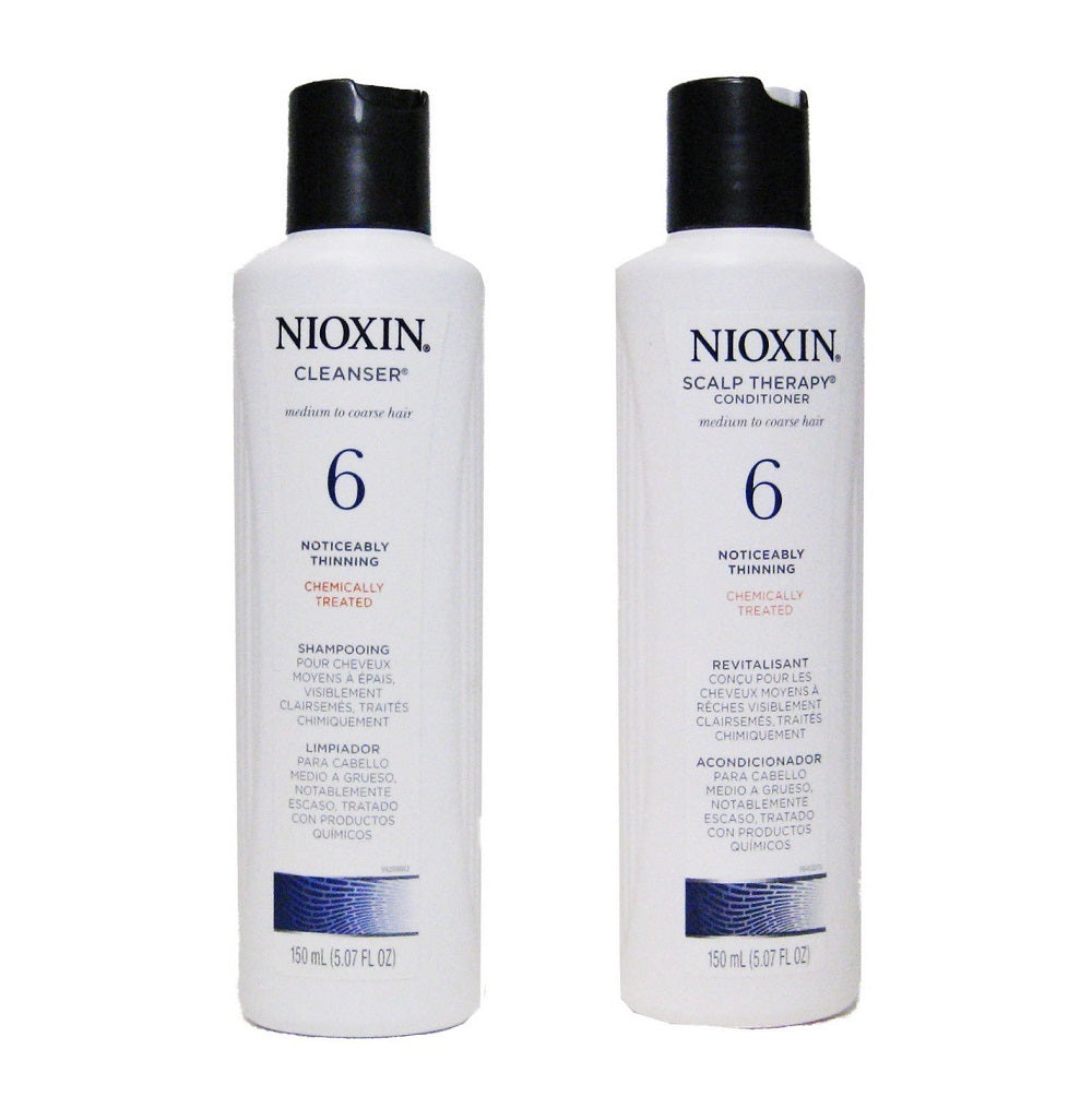 Nioxin System 6 Cleanser And Scalp Therapy Duo Set 5.07 Oz  Each